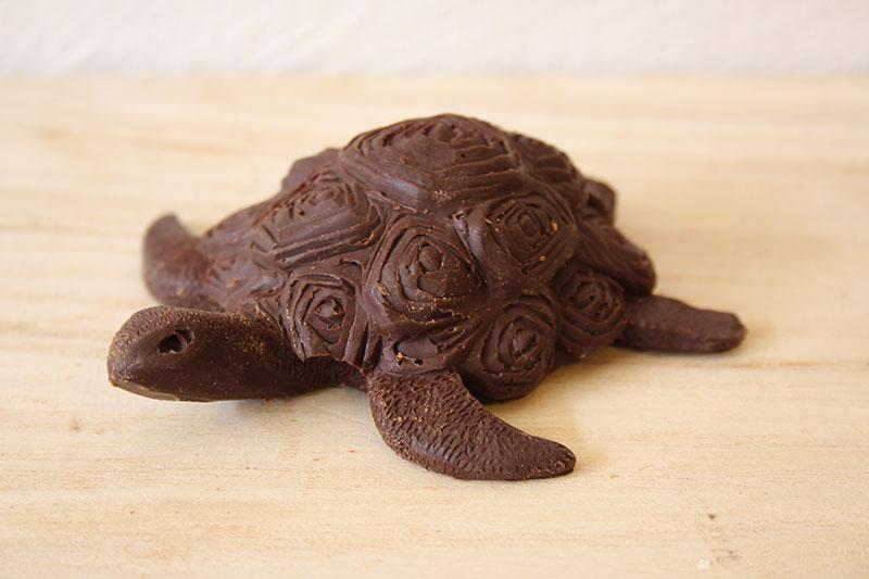 Sculpture artistique chocolat tortue