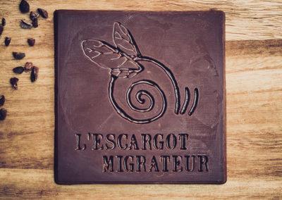 Chocolatiers d'art et Cie logo L'escargot Migrateur